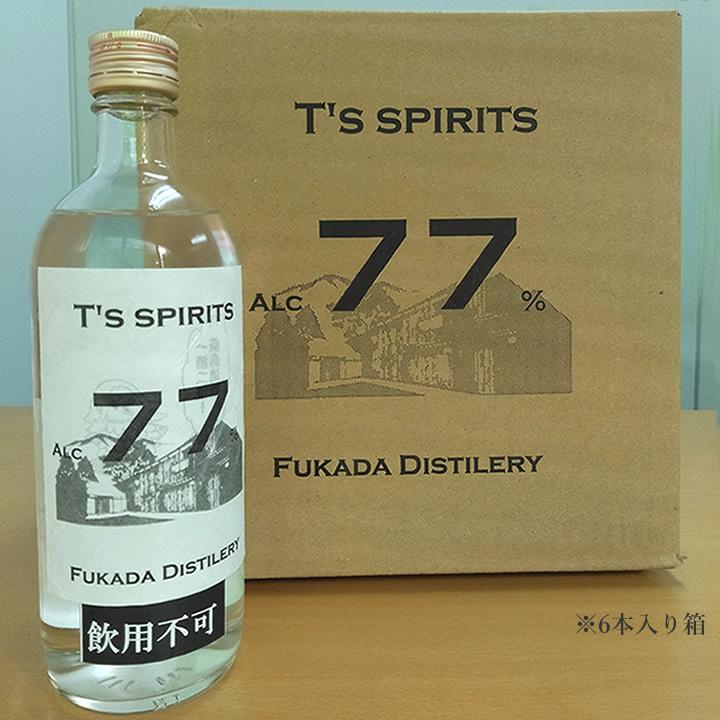 a01T's spirits77 繧「繝ォ繧ウ繝シ繝ォ蠎ヲ謨ー77% 豸域ッ堤畑繧「繝ォ繧ウ繝シ繝ォ 500ml 6譛ャ繧サ繝�繝�