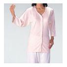 UN04W-M UN04W-L 7分袖前開きテープ止めシャツ婦人用・【M・L】 ウェルファン