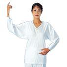 UN07W-S UN07W-M W-L 前開きホックシャツ長袖婦人用・【S・M・L】 ウェルファン
