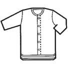 HW2118 7分袖クリップシャツ【LL】 グンゼ