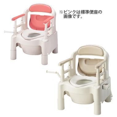 870-023(ピンク) 870-024(ベージュ) ポータブルトイレ・FX-CP<暖房便座>・キャスター付き