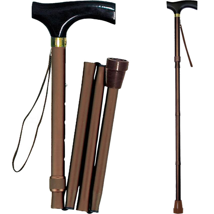17533 折りたたみ木製グリップ杖