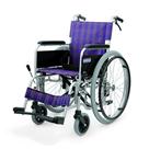 KA102B-40・42 アルミフレーム自走用車椅子(ノーパンクタイヤ仕様) カワムラサイクル