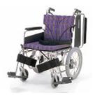 KA816-38B-SL KA816-40B-SL KA816-42B-SL アルミフレーム介助用車椅子(簡易モジュール) カワムラサイクル