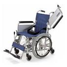 KAK18-40 アルミフレーム自走式車椅子六輪車(介助ブレーキなし)こまわりくん18 カワムラサイクル