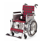 KAK18-40B アルミフレーム自走式車椅子六輪車(介助ブレーキ付)こまわりくん18B カワムラサイクル