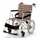 KAL-40BB 軽量型超々ジュラルミンフレーム介助用車椅子 カワムラサイクル