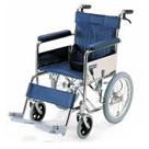 KR55 スチールフレーム介助用車椅子防炎シート採用 カワムラサイクル