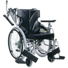 KZM22-38-43 KZM22-40-43 KZM22-42-43 中床型簡易モジュール車いす 自走兼介助用  カワムラサイクル